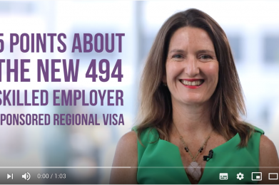 5 points about the new 494 Skilled Employer Sponsored Regional visa
