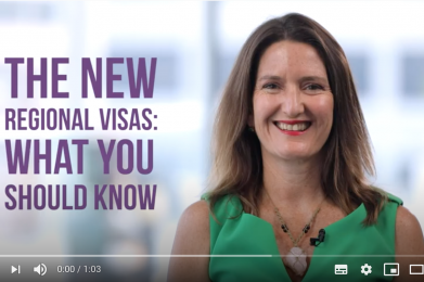The new regional visas – what you should know